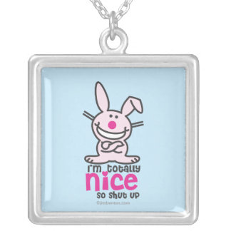 I'm Totally Nice Silver Plated Necklace