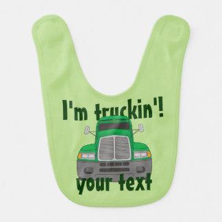 I'm Truckin' Baby Bib