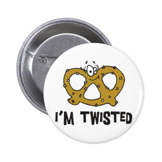 I'm Twisted Pretzel 6 Cm Round Badge