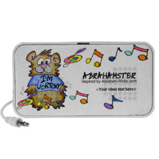 I'm Vortexy Abrahamster Travelling Speakers