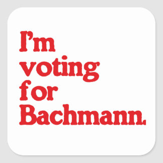 I'M VOTING FOR BACHMANN STICKERS