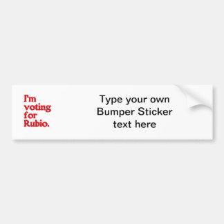 I'M VOTING FOR RUBIO CAR BUMPER STICKER