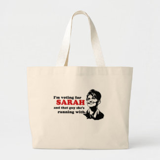 I'm voting for Sarah and that guy Bags