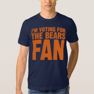 I'm Voting for the Bears Fan Obama 2012 Shirts