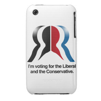 I'm voting for the Liberal and the Conservative iPhone 3 Cover