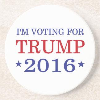 I'm Voting for Trump 2016 Beverage Coasters