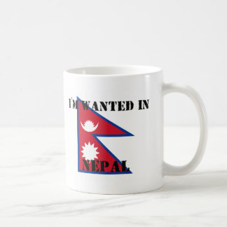 I'm Wanted In Nepal Mug