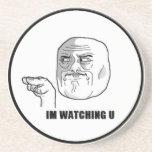 I'm Watching U Comic Face. Coasters