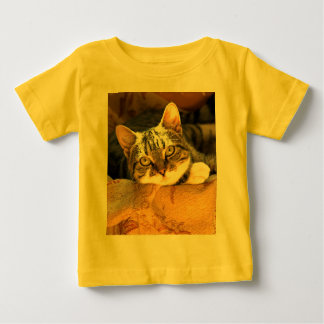 """I'm Watching You"" - a Very Cute Kitten Baby T-Shirt"