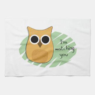 I'm watching you Owl Tea Towel