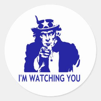I'm Watching You Round Sticker