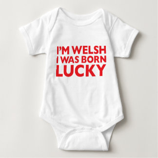 I'm Welsh I Was Born Lucky White Babygro Baby Bodysuit