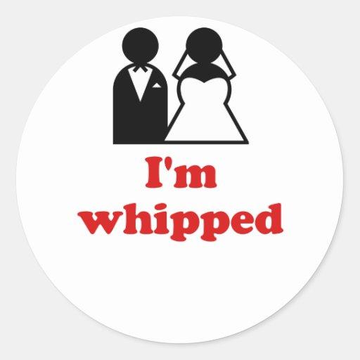 Im Whipped Round Sticker