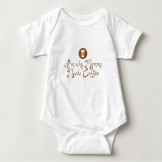 I'm Why Mommy Needs Coffee Baby Bodysuit