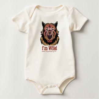 I'm wild and proud of it Tiger Baby Romper Baby Bodysuit
