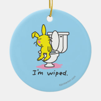 I'm Wiped Christmas Ornament