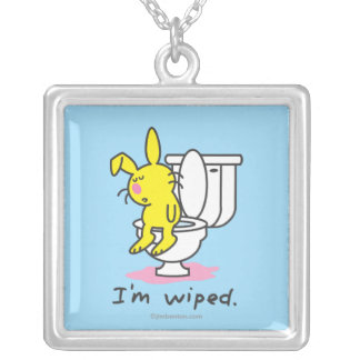 I'm Wiped Silver Plated Necklace