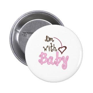 I'm with Baby 6 Cm Round Badge