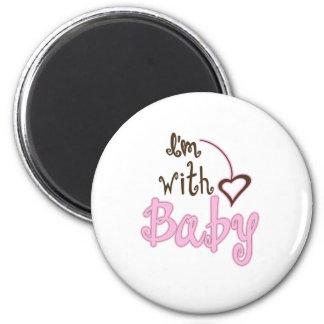 I'm with Baby Fridge Magnet