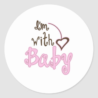 I'm with Baby Stickers