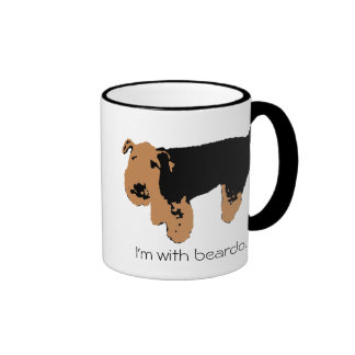 I'm With Beardo Coffee Mugs