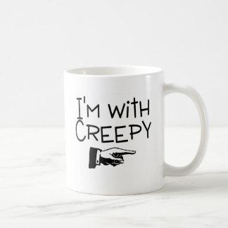 Im With Creepy Coffee Mug
