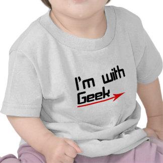 Im with geek t-shirt
