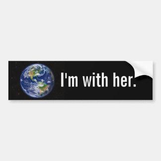 I'm With Her Bumper Sticker