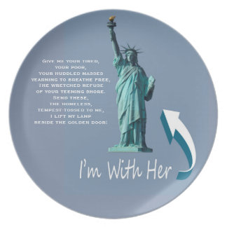 I'm With Her! Plate