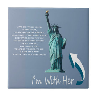 I'm With Her! Small Square Tile