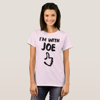 I'm With Joe Woman's shirt - Pale Pink