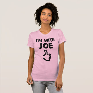 I'm With Joe Women's Fine Jersey TShirt - Pink