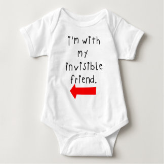 Im with my invisible friend baby bodysuit