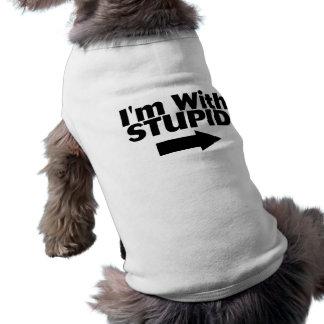 Im With Stupid Sleeveless Dog Shirt