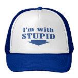 I'm with Stupid Trucker Cap Mesh Hat