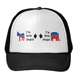"""I'm With Stupid"" Trucker's Hat"