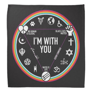 I'm With You activist gear. Proceeds to the ACLU! Bandanas