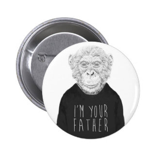 I'm your father 6 cm round badge
