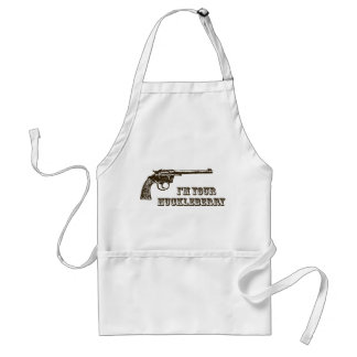 I'm Your Huckleberry Western Gun Standard Apron