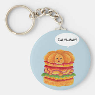 I'm Yummy! - Burger Series Basic Round Button Key Ring