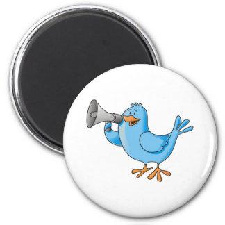 Imã de geladeira Twitter Bird 6 Cm Round Magnet