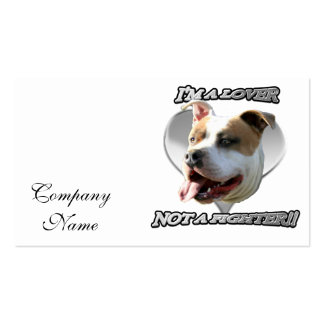 I'ma lover pitbull dog pack of standard business cards