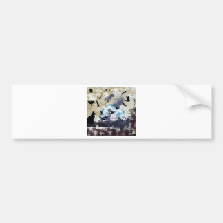 Imabari castle and flower and bird bumper stickers