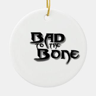 image, bad to the bone round ceramic decoration