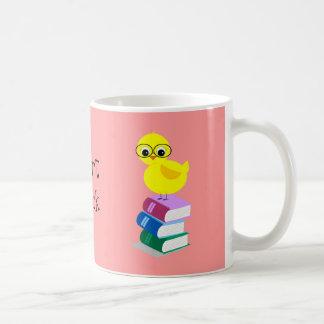 image_book angled stack, image_chick w glasses,... mug