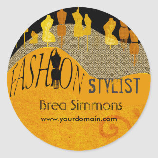 Image Consultant Fashion Stylist Round Sticker