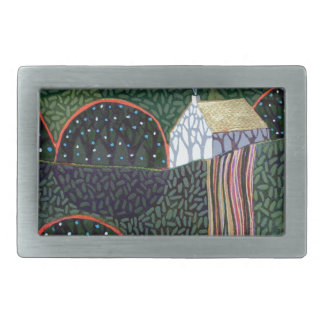 image from an original painting by Richard Friend Rectangular Belt Buckles