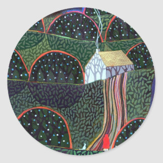 image from an original painting by Richard Friend Round Sticker