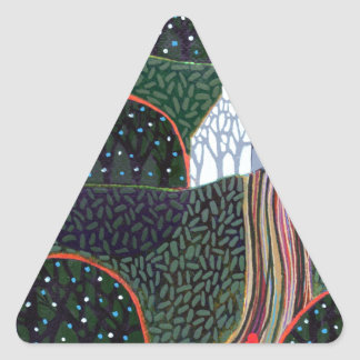 image from an original painting by Richard Friend Triangle Sticker