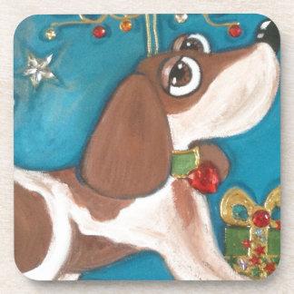 image.jpg dexter the beagle beverage coasters